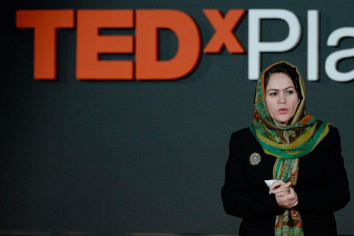 Koofi on TedX show: Giving up is not what we do, we fight, survive, we live