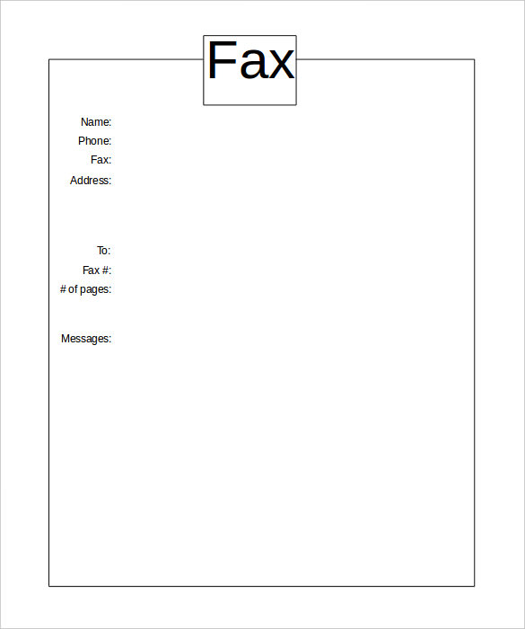 printable fax cover sheets  printable fax cover sheet