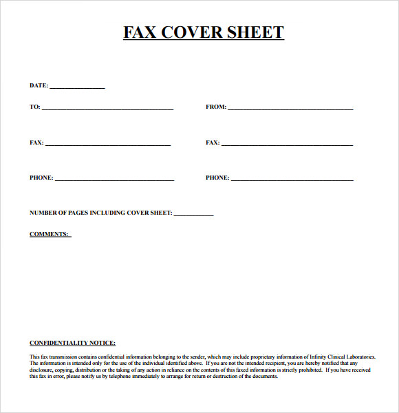 Free* Fax Cover Sheet Template Download Printable Fax Cover Sheet
