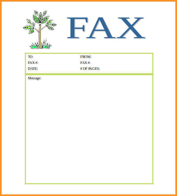Free^^ Fax Cover Sheet Template