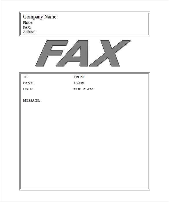 Generic Fax Cover Sheet Free Fax Cover Sheet Template Download - Blank Fax Cover Sheet