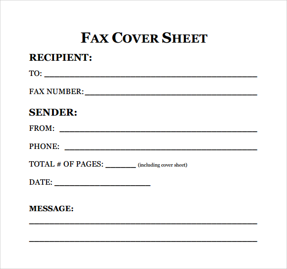 Fax Cover Sheet For Resume Free Fax Cover Sheet Template Download