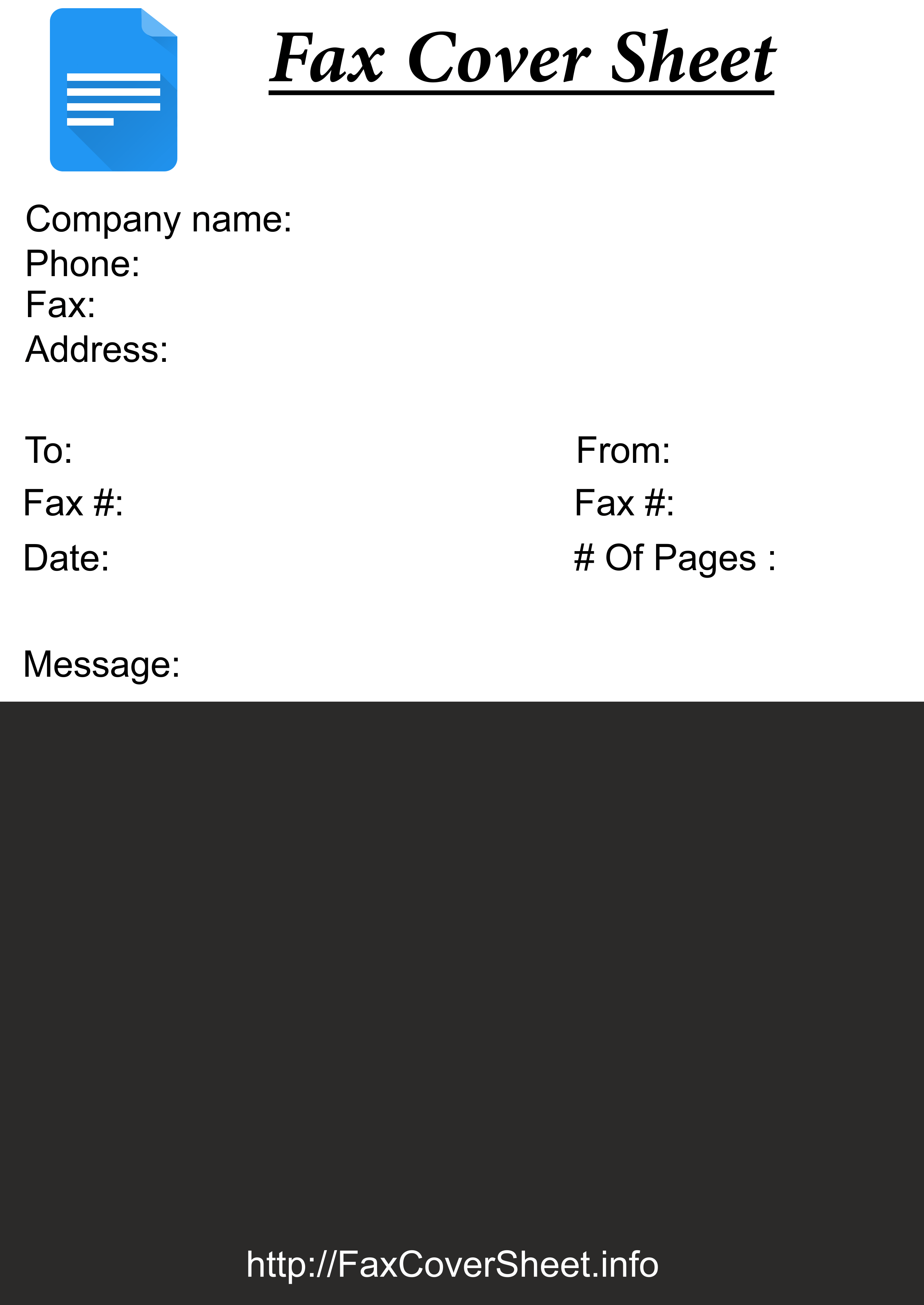 free fax cover sheet printable