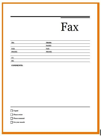 How to download and Print Fax Template (11 Free Fax Template)