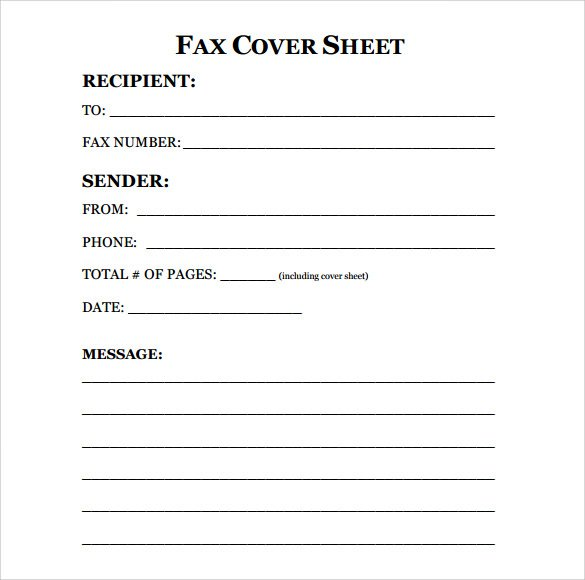 how to make a fax cover sheet in word 2010