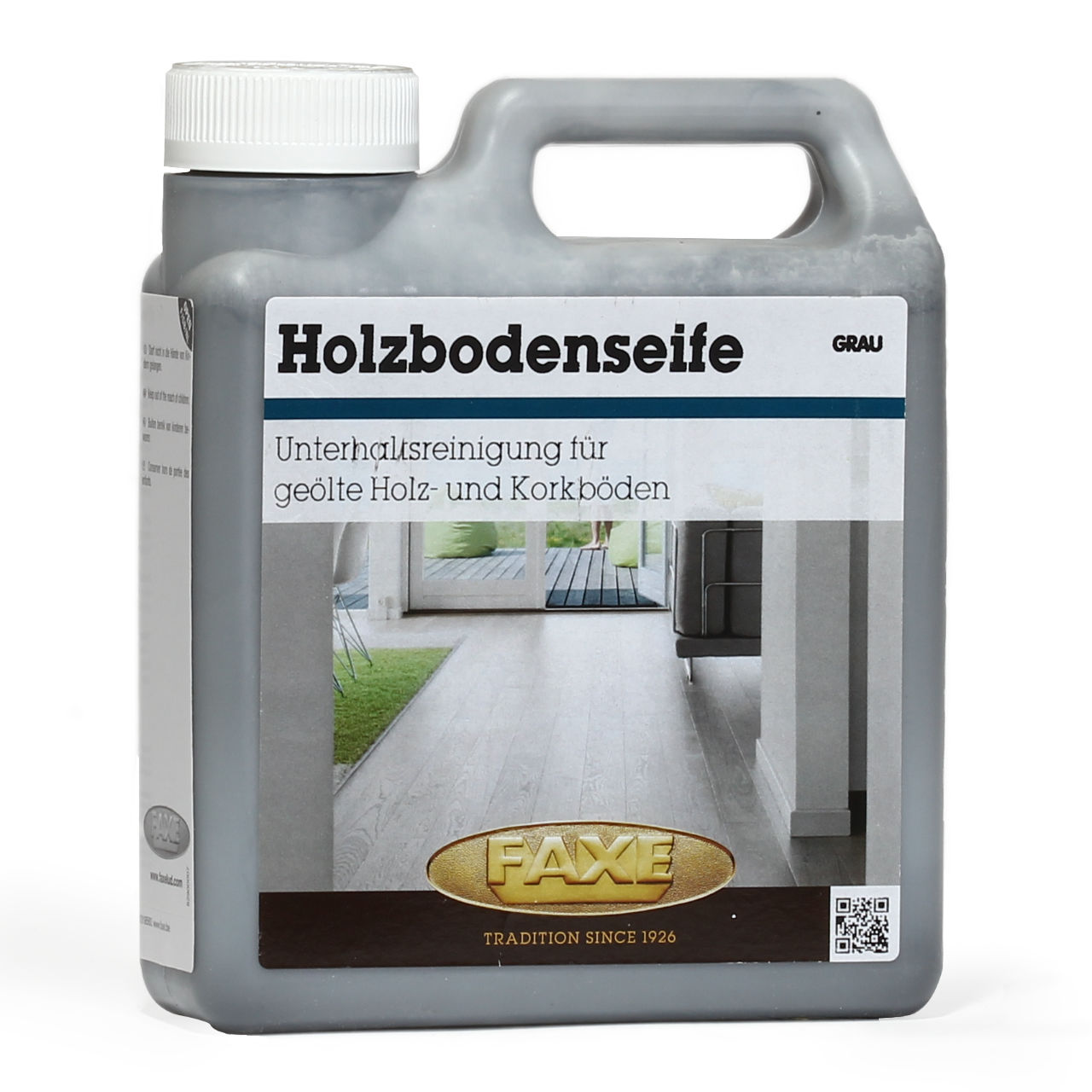 Grauer Holzboden Holzbodenseife Grau