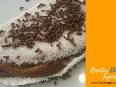 Receitas Doces - Tapioca com Chocolate e Doce de Leite