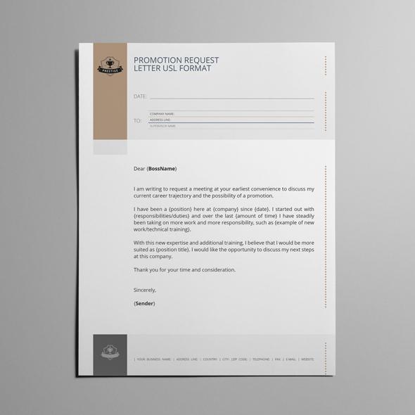 Promotion Request Letter USL Format by Design Bundles