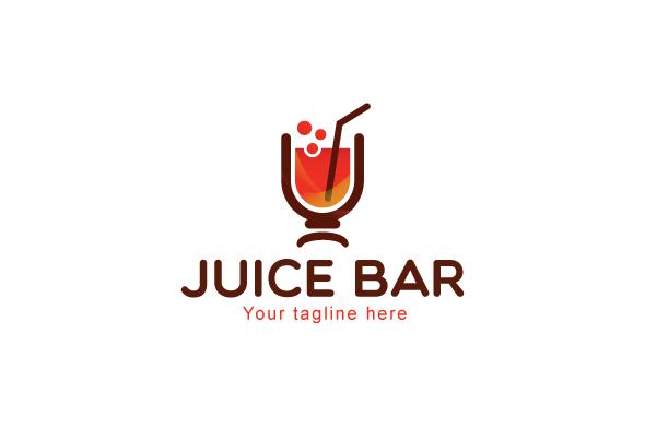 Juice Bar - Restaurant Logo Design by L Design Bundles
