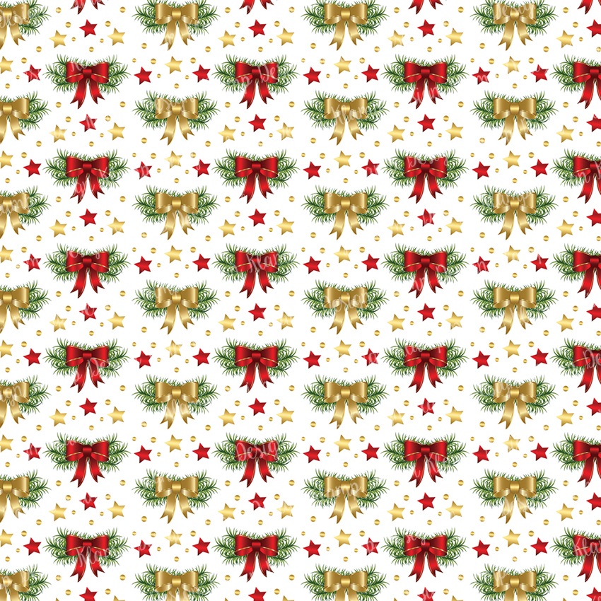 Red and Gold Christmas Digital Paper Pack / Backgrounds