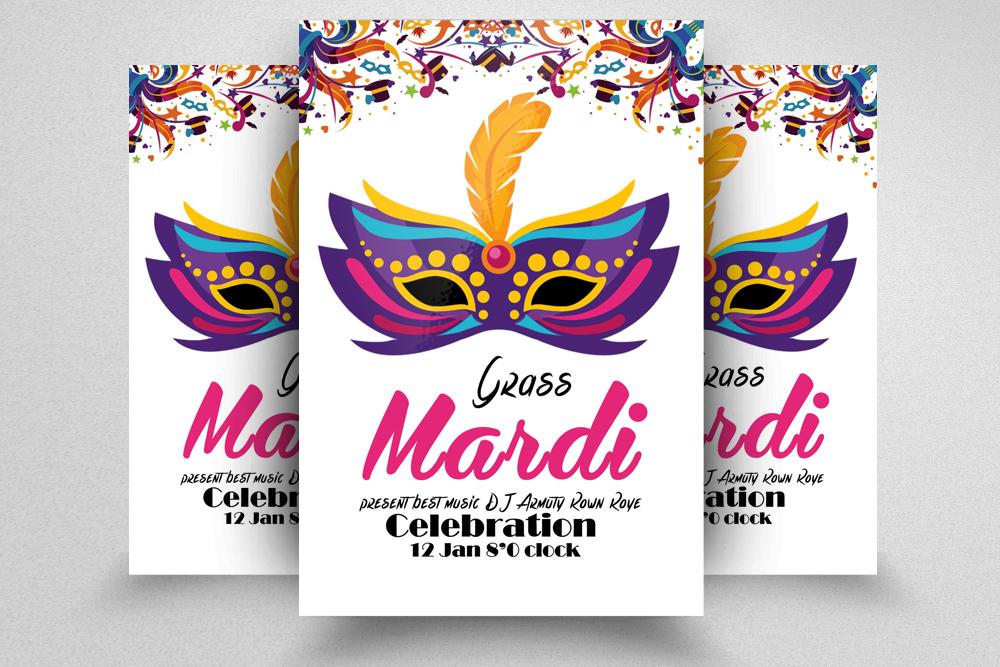 Mardigras  Carnival Flyer Template