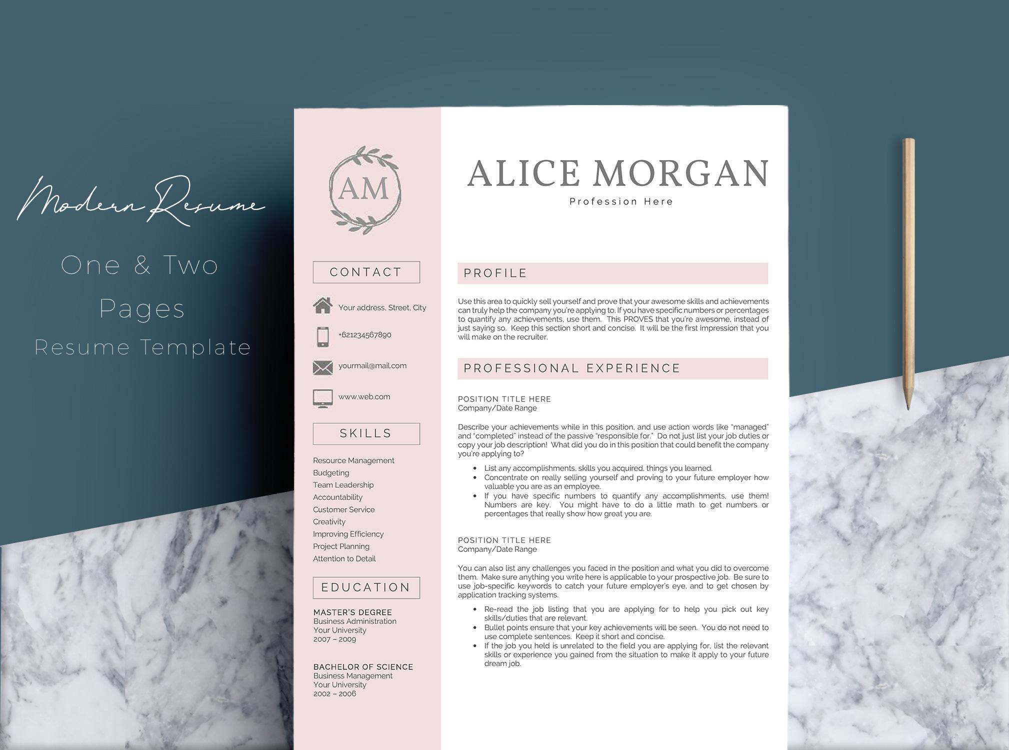 resume making in word
