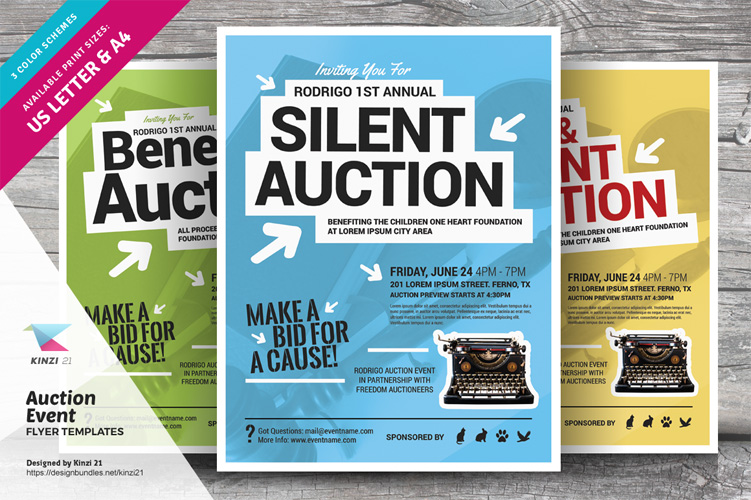 Auction Event Flyer Templates