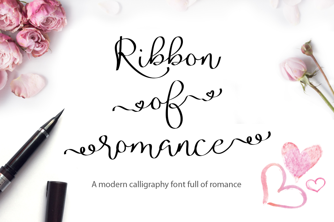Calligraphy Font Modern Free Valentine S Font Bundle With 6 Free Procreate Brushes