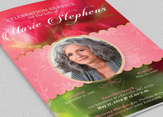 Decorative Funeral Program Template