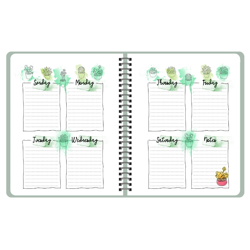Weekly Planner Printable Weekly pages, Weekly Organizer, A5