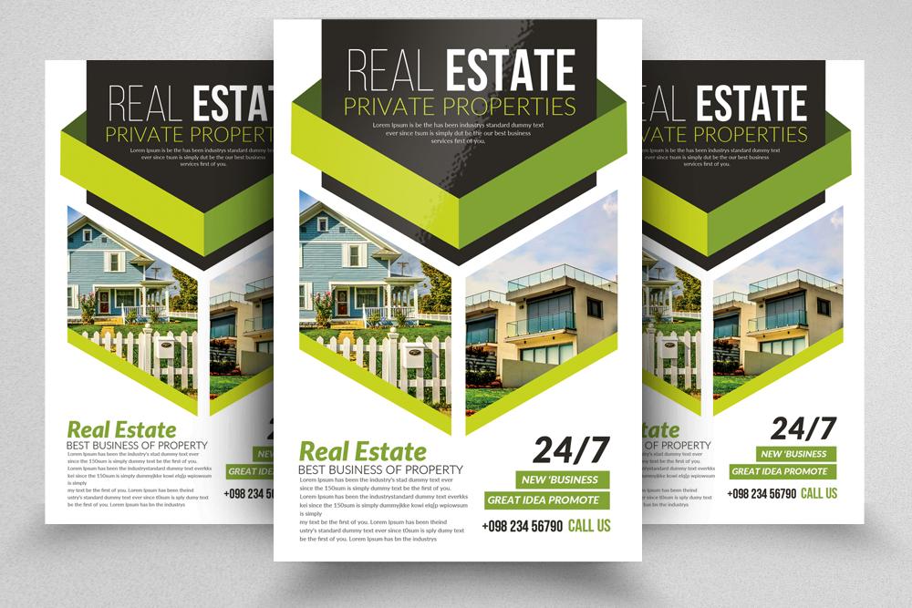 10 Real Estate Flyer Template Bundle by Design Bundles