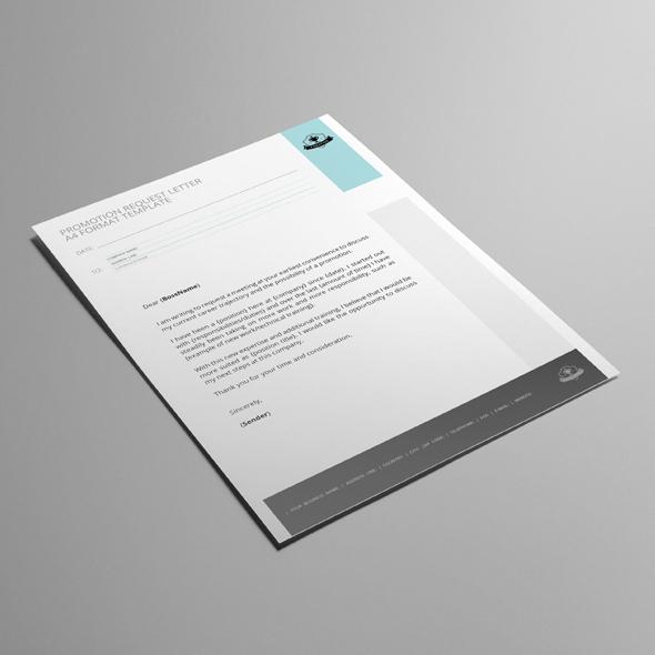Promotion Request Letter A4 Format Template