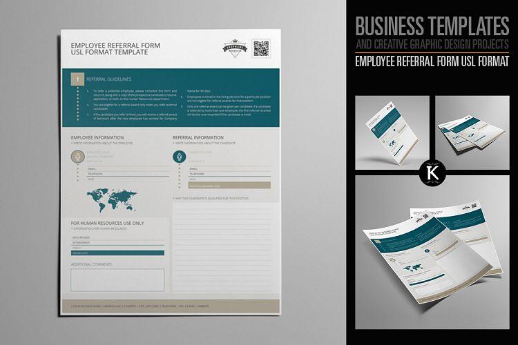 Employee Referral Form USL Format by Ke Design Bundles