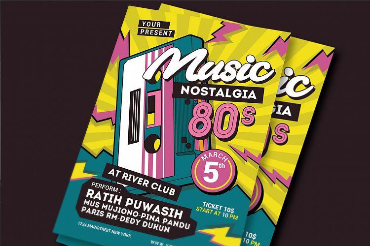 80\u0027s Music Event Flyer