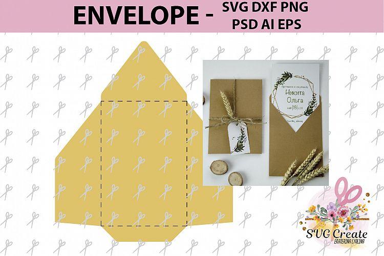 Envelope template papercut wedding invite