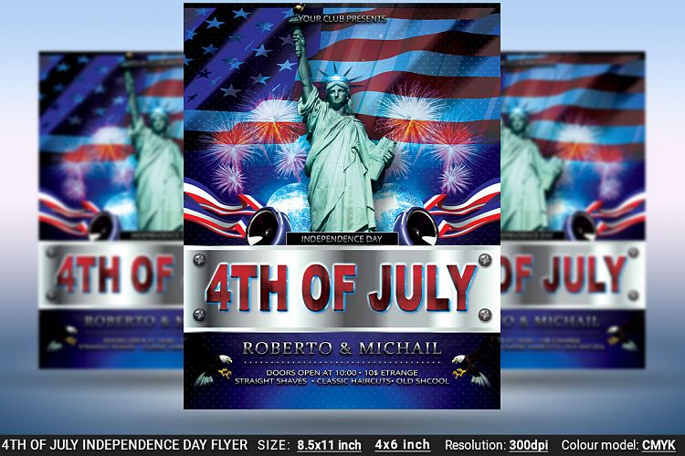 4th Of July Independence Day Flyer Poster