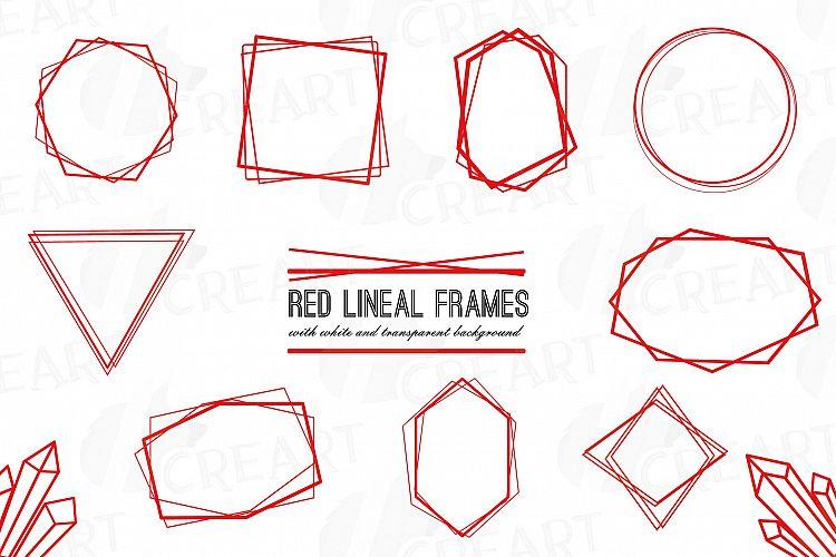 Elegant Christmas geometric red frames, wedding red frames