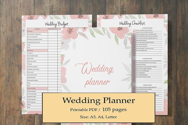 Wedding Planner Printable, Wedding Binder Planner