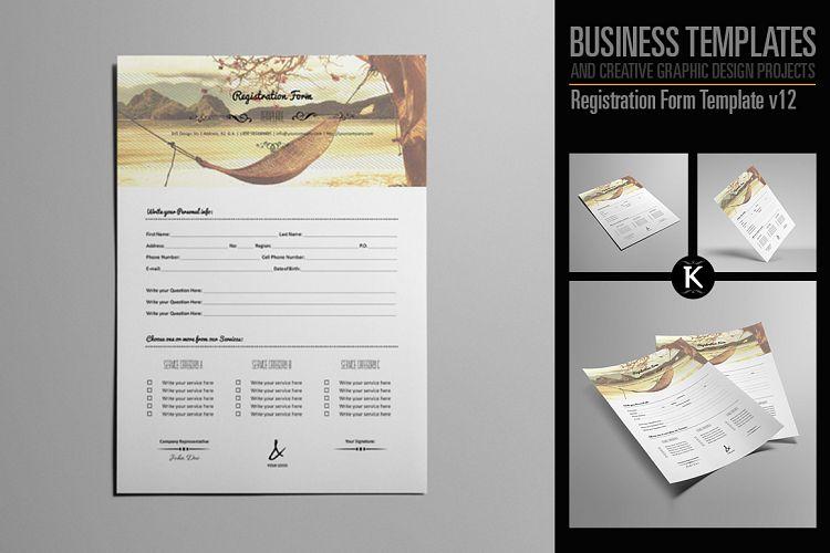 Registration Form Template v12