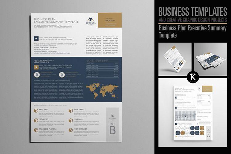 Business Plan Executive Summary Templat Design Bundles