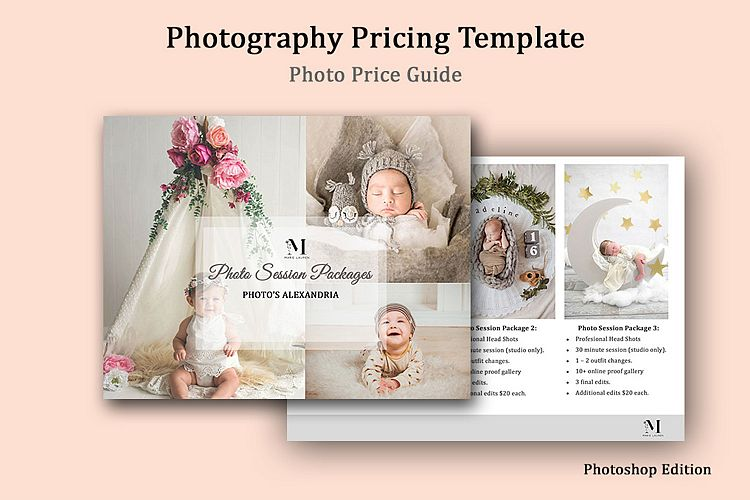 Newborn Photography Pricing Template, Photo Price Guide