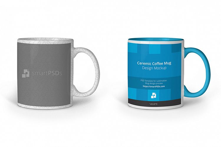 Coffee Mug for Sublimation Preview Design Template