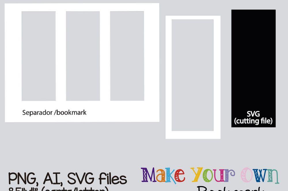Bookmark template, digital collage sheet template, digital template