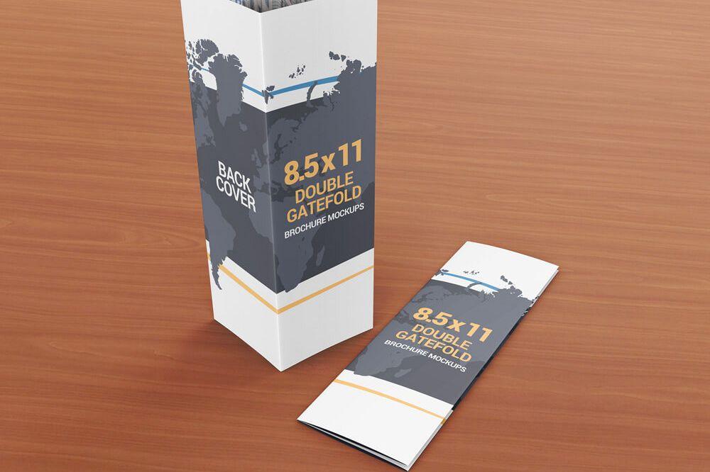 85 x 11 Double Gate Fold Brochure Moc Design Bundles - double fold brochure