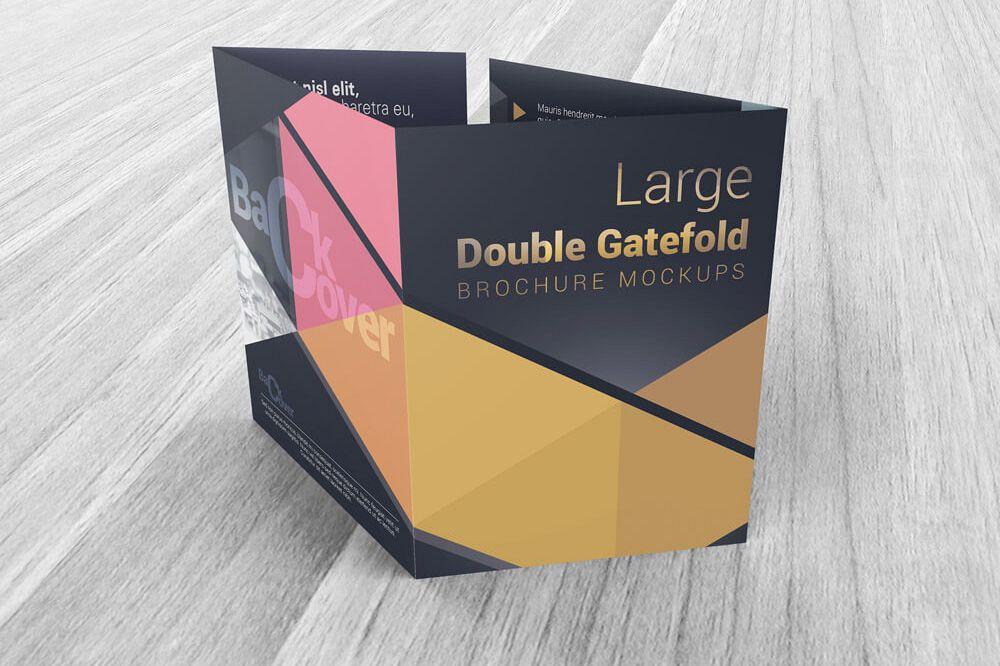 Large Double Gate Fold Brochure Mockups Design Bundles - double fold brochure