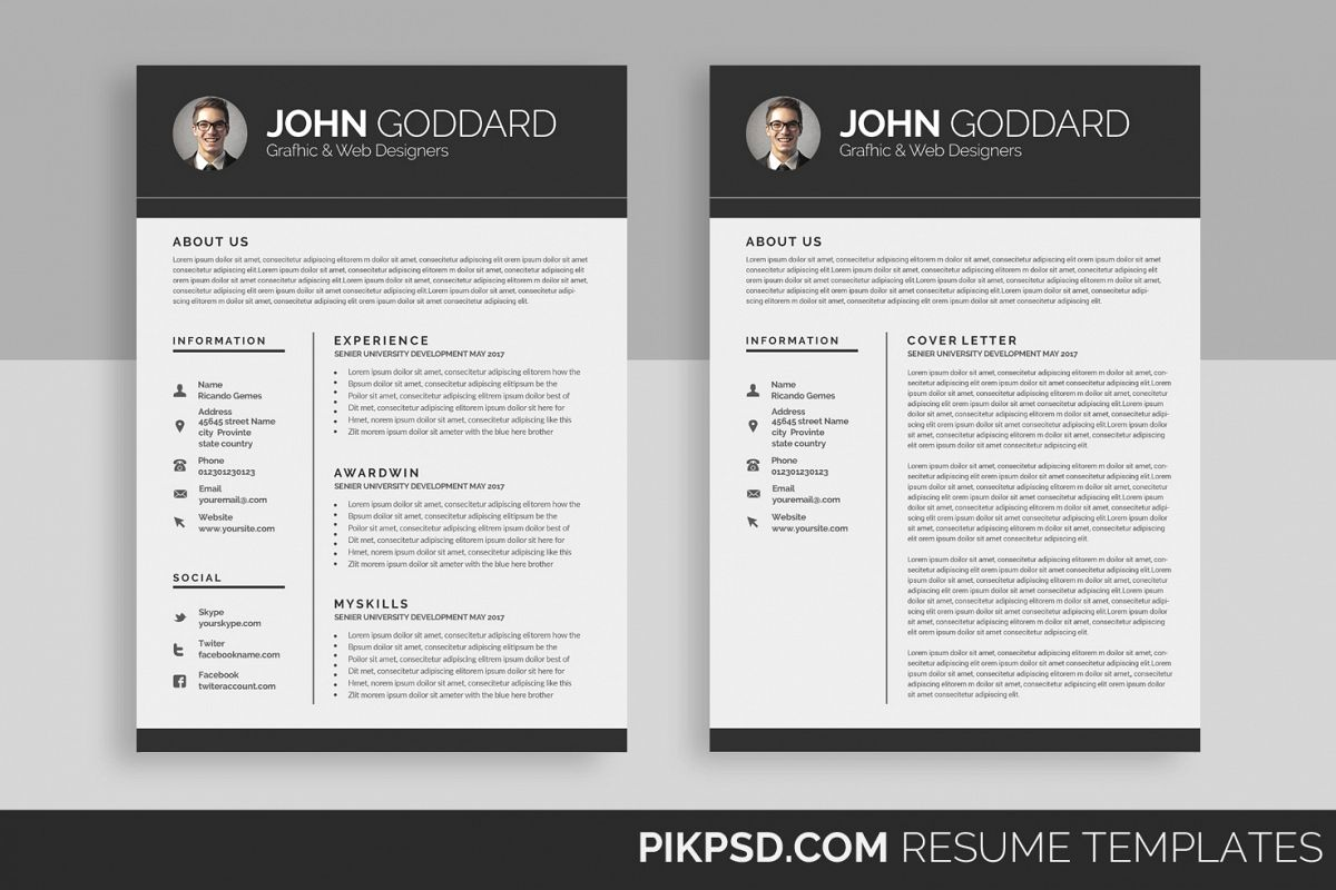 pages cv design