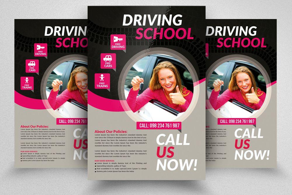 Driving Learning School Flyers