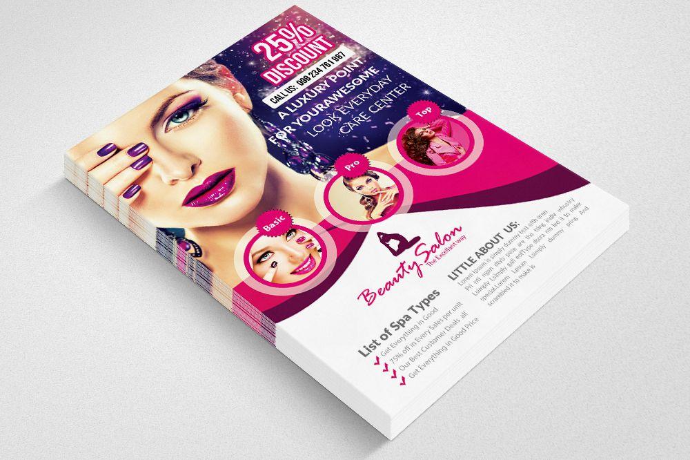 Beauty Salon Flyer Template 02