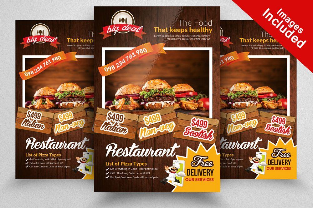 Restaurant Menu Flyer Template by Desig Design Bundles