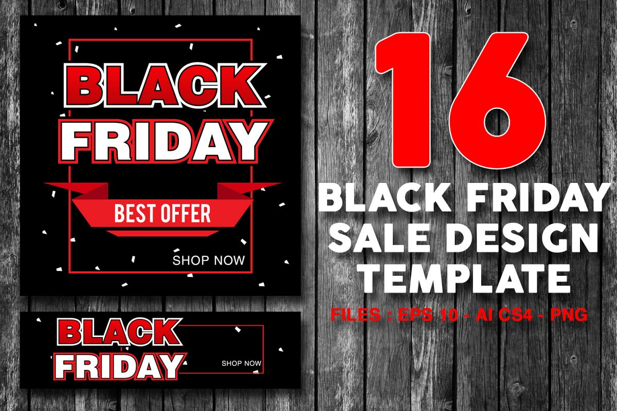 Sale Black Friday 16 Black Friday Sale Banner For Online Shop Store