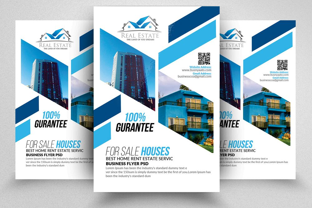 Real Estate Flyer Template by Designhub Design Bundles - land for sale flyer