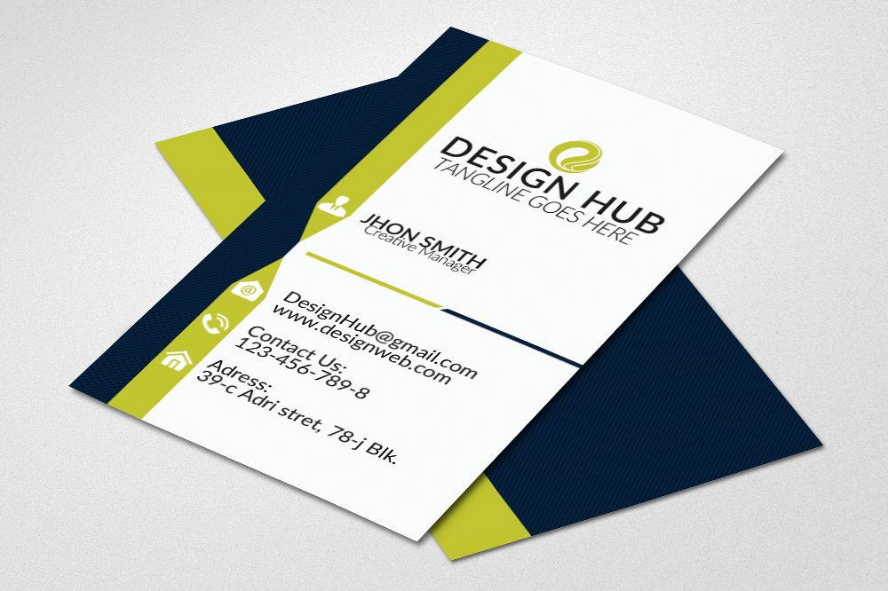 Vertical Business Cards by Designhub719 Design Bundles - vertical business card