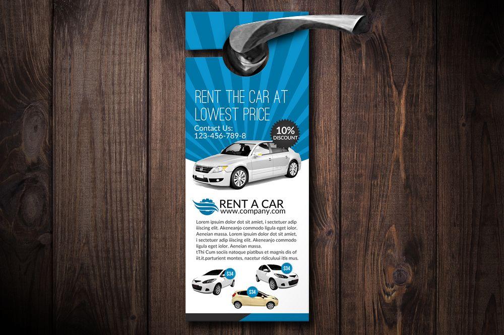 Rent A Car Door Hangers