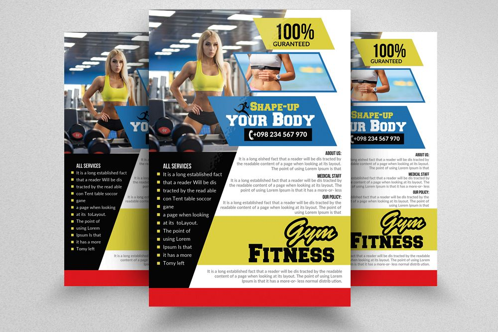 Fitness Body Workout Muscle Competition Flyer