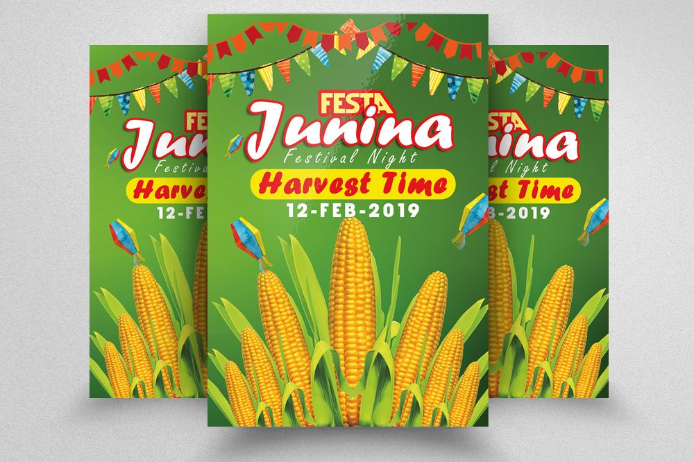 Festa Junina Harvest Festival Flyer