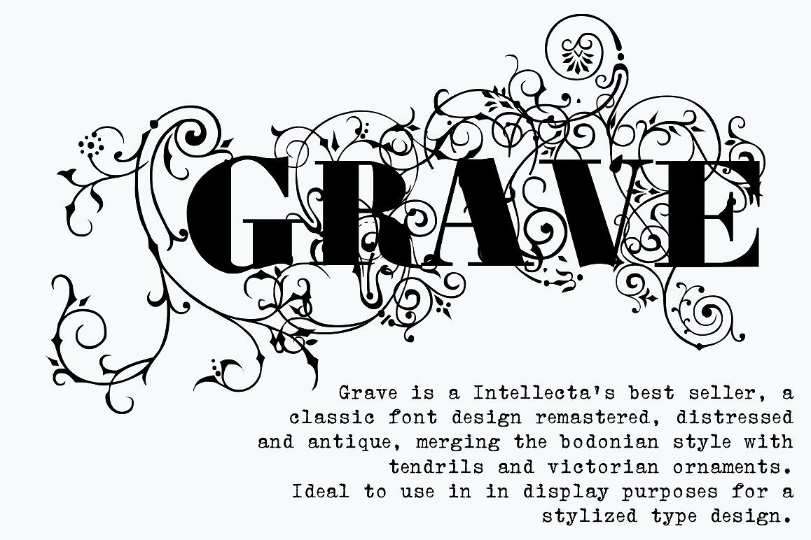 Calligraphy Fonts Victorian Grave Ornamental