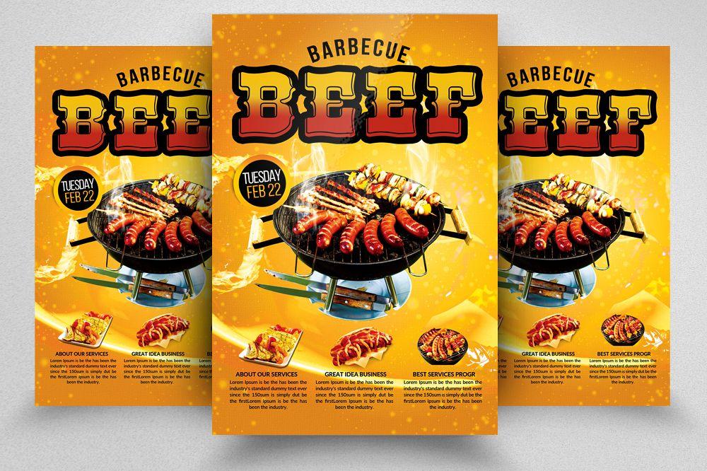 Beef BBQ Flyer Template