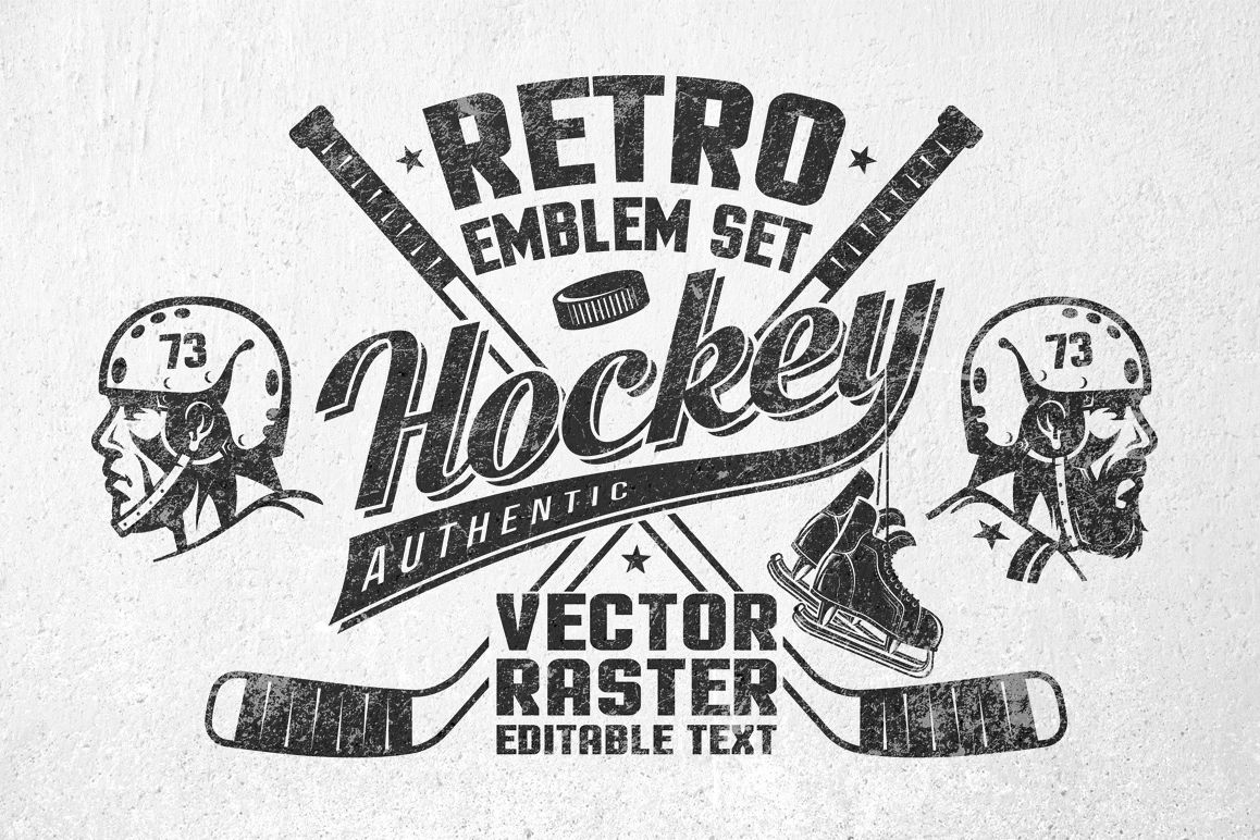 Hockey Logos Retro Hockey Logos