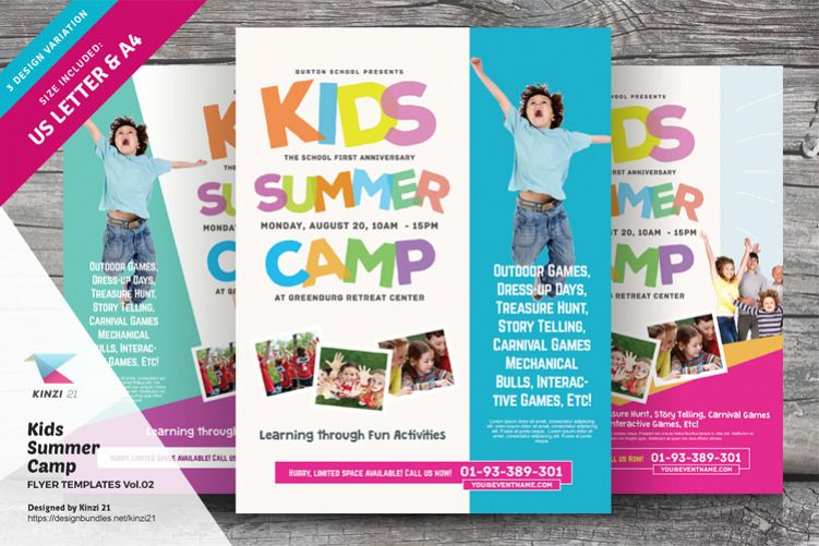 Kids Summer Camp Flyer Templates Vol02
