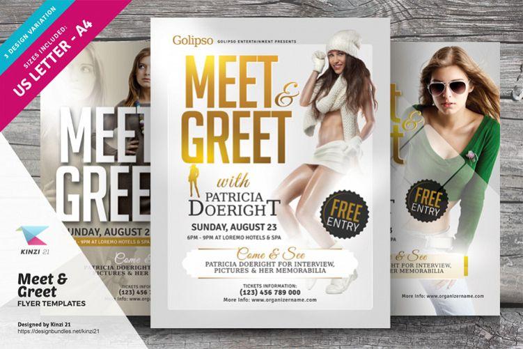 Meet  Greet Flyer Templates